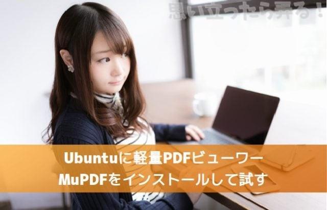 Ubuntuに軽量PDFビューワーMuPDFをインストールして試す