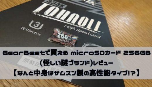 GearBestで買えるmicroSDカード256GB(怪しい謎ブランド)レビュー【なんと中身はサムスン製の高性能メモリ!?】