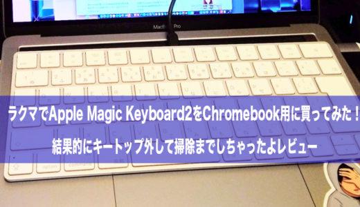 ラクマでApple Magic Keyboard2をChromebook用に買ってみた!キートップ外して掃除までしちゃったよレビュー