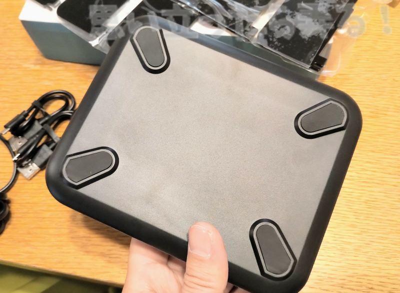 5-Port USB チャージングステーションドックの底のしっかりとしたゴム足