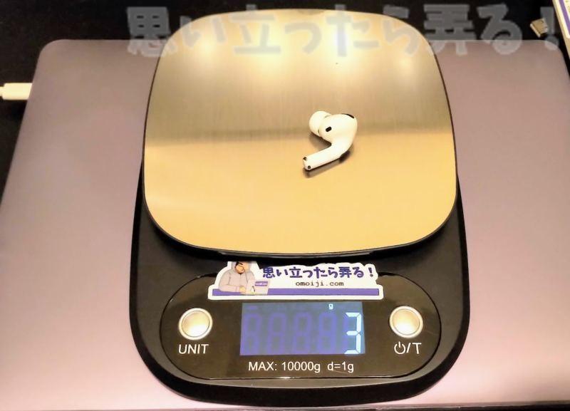 中国通販で買える偽物AirPods Proイヤホンの重量は片耳3グラムと超軽量