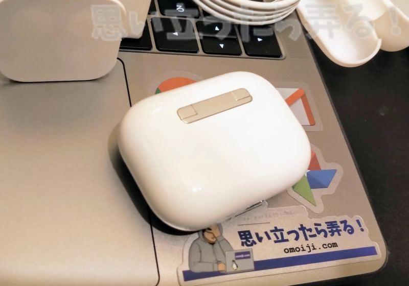 偽物AirPods Proイヤホンの充電ケースはQi無線充電にも対応