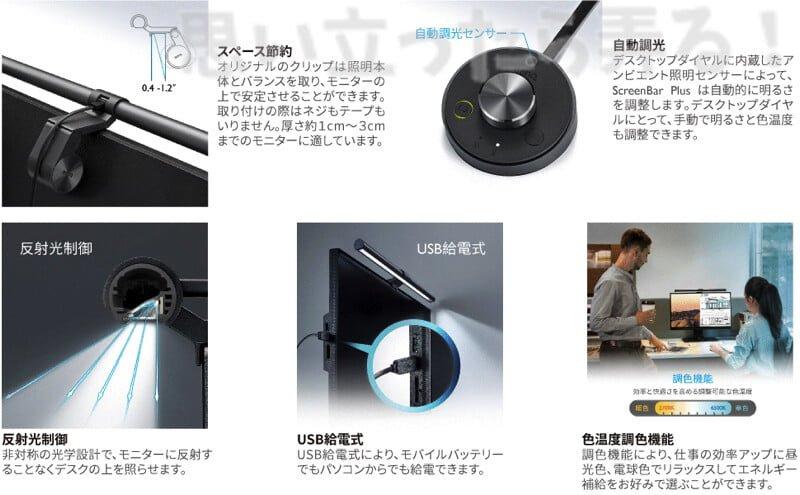 BenQ スクリーンバー プロの製品特徴