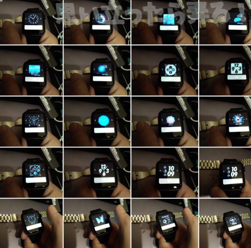 偽アップルウォッチのウォッチフェイスは30種類以上内蔵