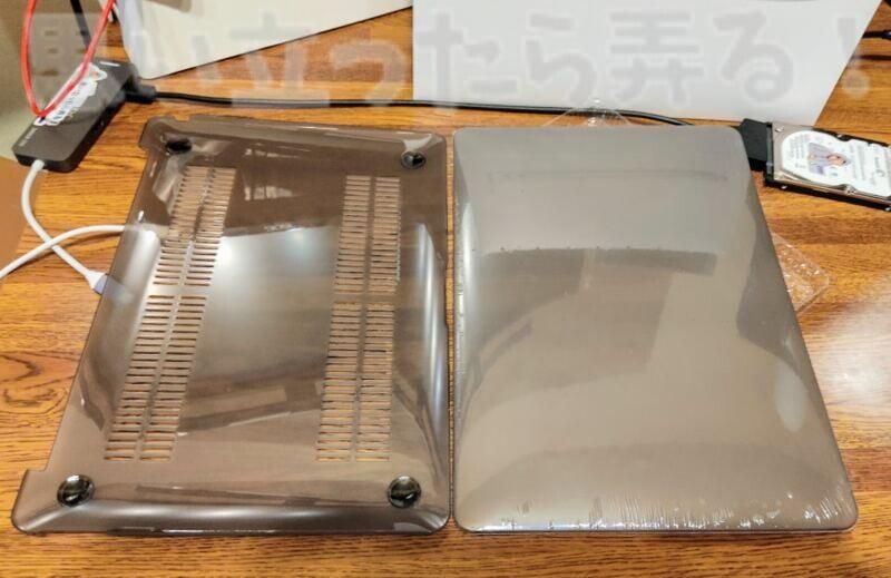 M1 MacBook Airに対応した半透明のカバー