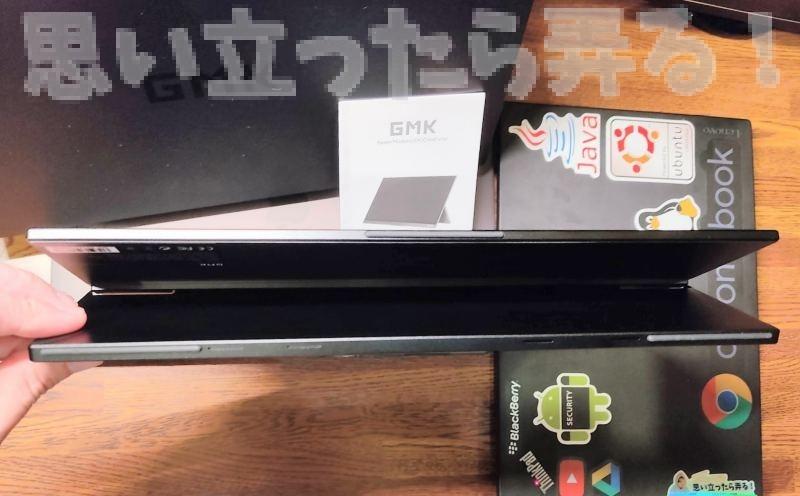 GMK モバイルディスプレイ DK1 の底面スタンドを開いてみた